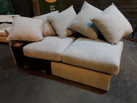 Lot 26 NAYPTURAL FABRIC SECTION WITH SCATTER CUSHIONS