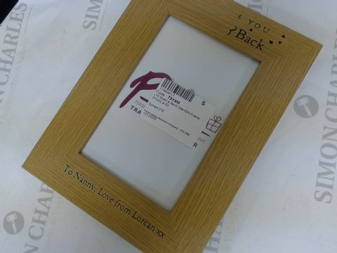 Lot 204 TO THE MOON AND BACK PERSONALISED PHOTO FRAME  RRP £16.99
