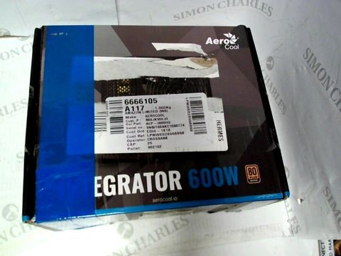 Lot 7096 AEROCOOL INTEGRATOR 600W POWER SUPPLY