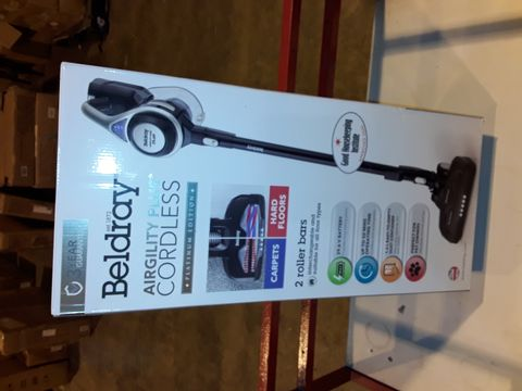 Lot 3241 BELDRAY AIRGILITY + CORDLESS VACUUM CLEANER
