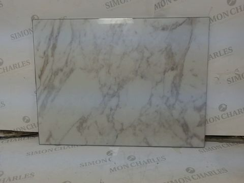 Lot 629 BOXED GRADE 1 MARBLE EFFECT GLASS WORKTOP SAVER  RRP £19.99