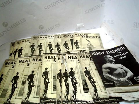 Lot 263 LOT OF APPROXIMATELY 16 1940'S HEALTH & STRENGTH FITNESS PAMPHLETS