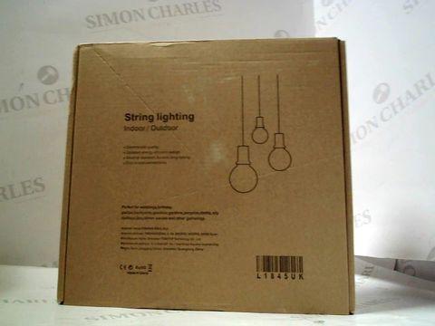 Lot 1602 BOXED INDOOR/OUTDOOR STRING LIGHTING