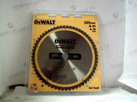 Lot 7011 DEWALT CONSTRUCTION 305MM SAW BLADE