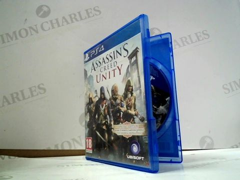 Lot 8025 ASSASSINS CREED UNITY PLAYSTATION 4 GAME