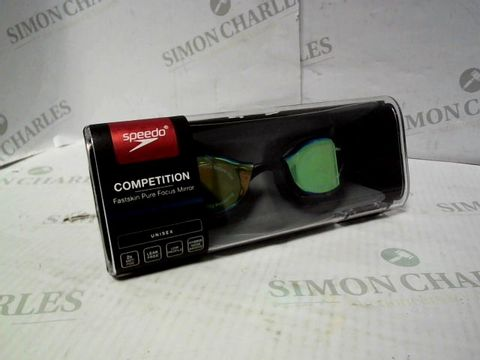 Lot 1021 SPEEDO COMPETITION FASTSKIN PURE FOCUS MIRROR SWIMMING GOGGLES