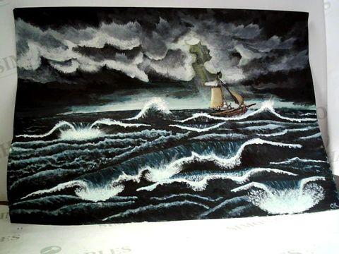 Lot 22 ORIGINAL SEASCAPE ARTWORK ON PAPER , CK MONOGRAPH