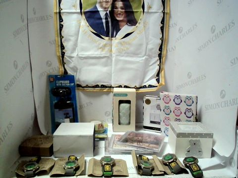 Lot 7619 LOT OF APPROXIMATELY 17 ASSORTED ITEMS TO INCLUDE WATCHES, CD'S ETC