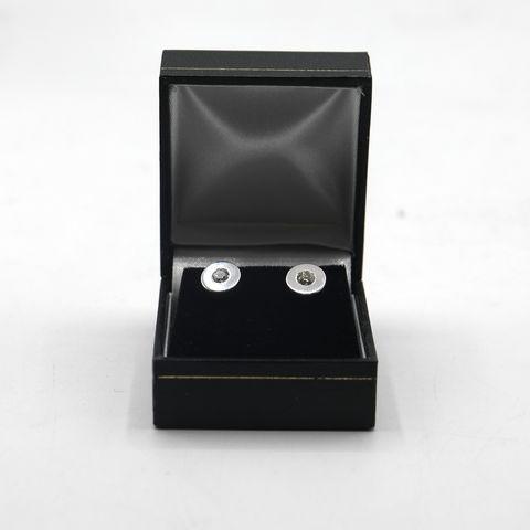 Lot 3 DESIGNER 18ct WHITE GOLD DIAMOND SET STUD EARRINGS