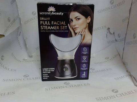 Lot 3502 SERENITY BEAUTY DULUXE FULL FACIAL STEAMER BLACK