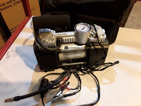 Lot 10 TIREWELL TW2003 12V 15A TYRE INFLATOR WITH BLACK FABRIC CARRY CASE