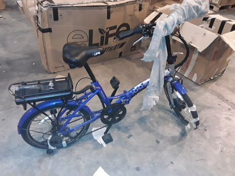 Lot 8326 ELIFE ROYAL 6SP 36V 250W ELECTRIC FOLDING BICYCLE