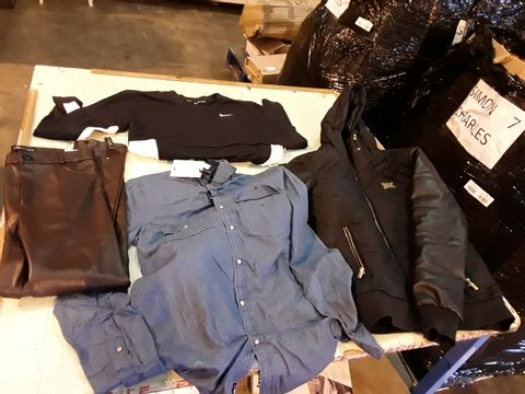 Lot 13522 CAGE OF ASSORTED DESIGNER ADULTS CLOTHING TO INCLUDE: ZARA SKIRT, JOULES COAT, ADIDAS JUMPER, ARMANI JEANS, BOOHOO VOAT ET