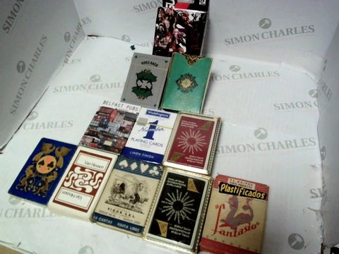 Lot 74 ASSORTED PLAYING CARDS x11