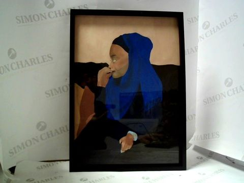 Lot 31 UNSIGNED FRAMED ARTWORK WOMAN IN HIJAB