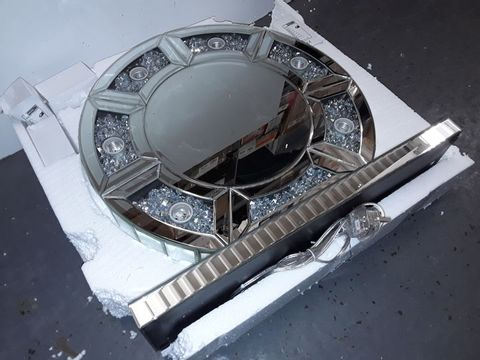 Lot 3032 GLAMOUR DRESSING TABLE LIGHT-UP MIRROR
