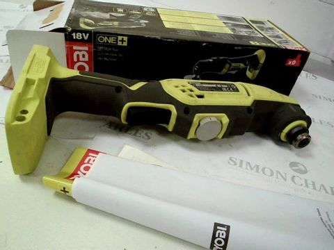 Lot 13420 RYOBI R18MT3-0 18V ONE+ CORDLESS MULTI-TOOL (BODY ONLY)