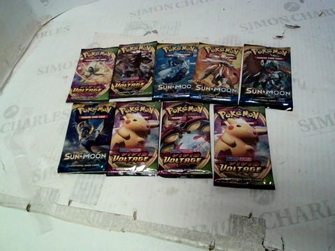 Lot 198 9 ASSORTED PACKS OF POKEMON CARDS