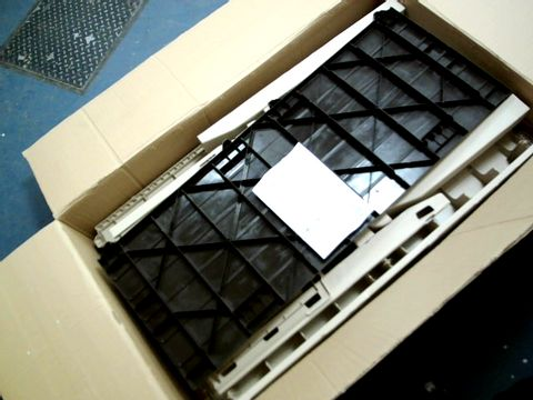 Lot 15187 KETER EDEN BENCH OUTDOOR PLASTIC STORAGE BOX GARDEN FURNITURE, BEIGE AND BROWN