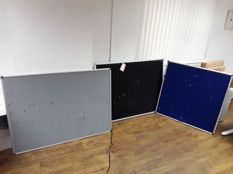 Lot 14 THREE ASSORTED LARGE NOTICE BOARDS