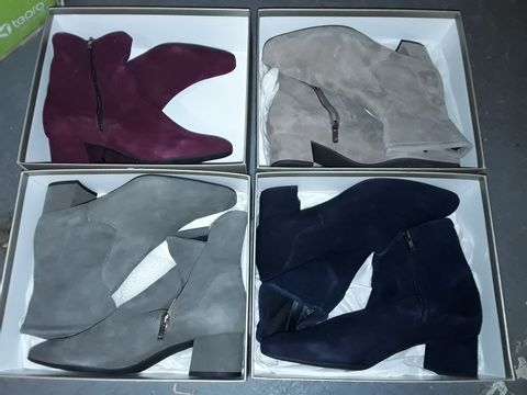 Lot 8069 LOT OF 4 BOXED PAIRS OF PETER KAISER SIDE ZIP LADIES BOOTS - SIZES 6/7/7/8