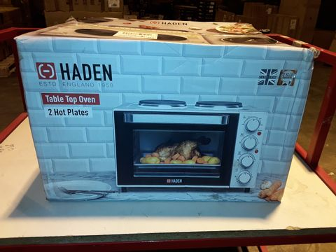 Lot 3213 HADEN TABLE TOP OVEN WITH 2 HOT PLATES