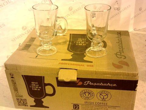 Lot 10113 SIX CASES OF 12 IRISH COFFEE GLASSES 8oz
