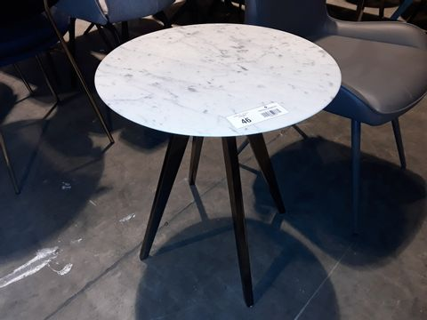 Lot 46 DESIGNER WHITE ONYX CIRCULAR COFFEE TABLE