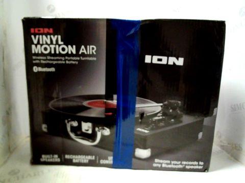 Lot 1122 ION AUDIO VINYL MOTION AIR WIRELESS TURNTABLE