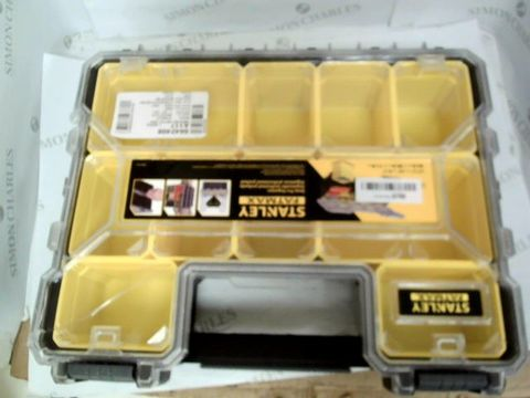Lot 7463 STANLEY FATMAX Pro Deep Storage Organiser for Small Parts, 10 Removable Compartments