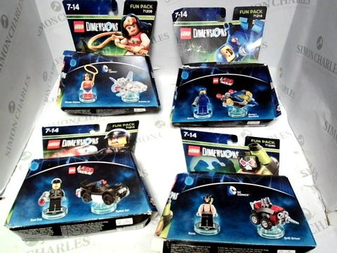 Lot 91 LEGO DIMENSIONS FUN PACK x4