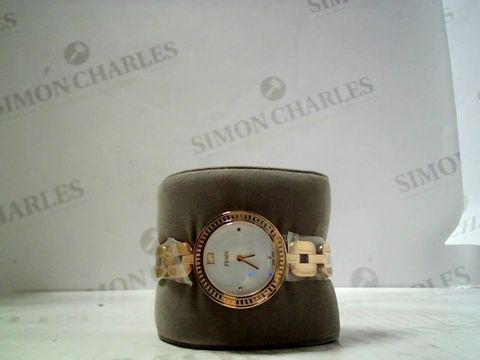 Lot 3089 DESIGNER ROSE GOLD TONE WRISTWATCH