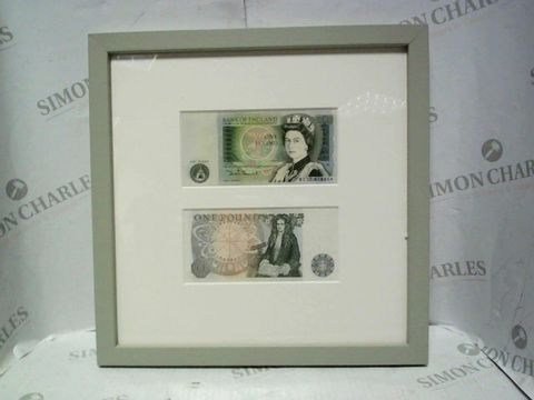 Lot 1081 FRAMED ONE POUND NOTE DISPLAY ART