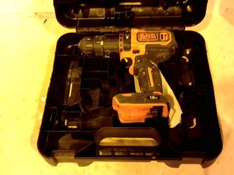 Lot 12421 BLACK AND DECKER BCD700S DRILL IN CASE
