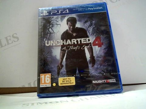 Lot 8002 UNCHARTED 4: A THIEF'S END PLAYSTATION 4 GAME