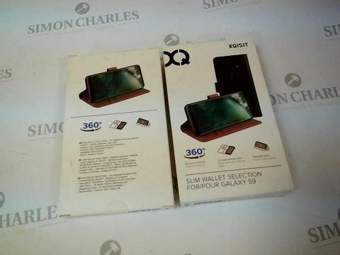 Lot 2628 BOX OF 16 BRAND NEW BOXED XQISIT SLIM WALLETS FOR GALAXY S9