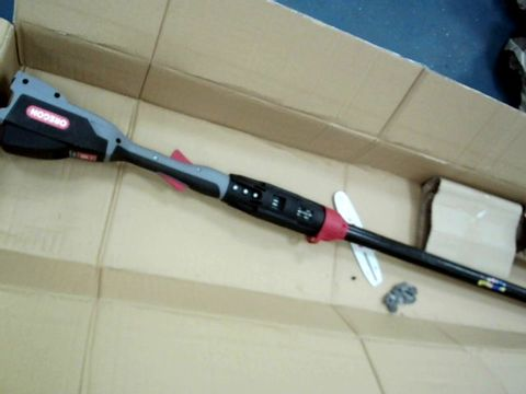 Lot 12428 OREGON 563460 POLE SAW WITH 2.4 A BATTERY AND STANDARD CHARGER, BLACK/RED/GREY, AH