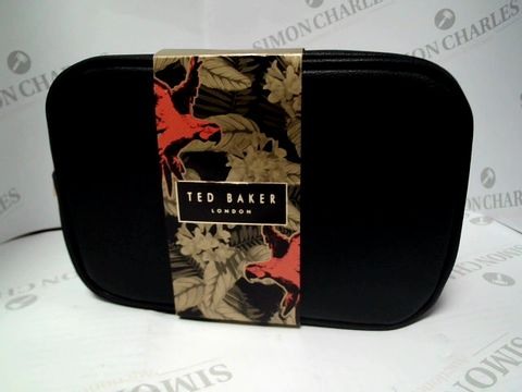 Lot 8097 TED BAKER LONDON - TEDS TRAVEL WASHBAG - HAIR & BODY WASH, BLUE CLENSING BAR AND ANTI-PERSPIRANT SPRAY