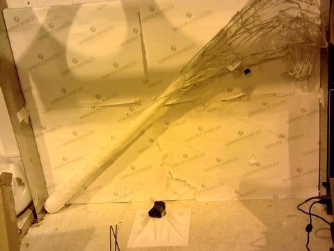 Lot 1104 BOXED HOME REFLECTIONS INDOOR OUTDOOR WHITE STARBURST BRANCH TREE