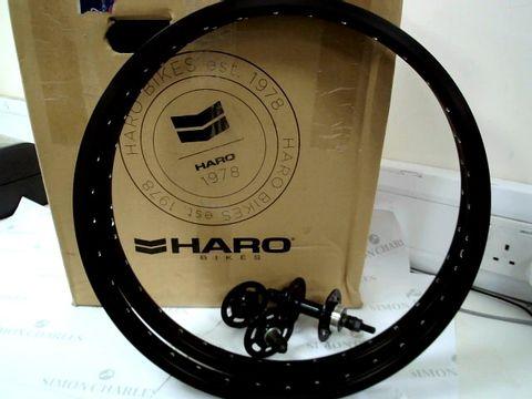 "Lot 7547 PAIR OF HARO 20"" REAR BIKE RIMS & HUBS 14mm AXLE"