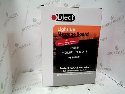 Lot 1208 A BOX OF APPROXIMATELY 12 OBJECT LIGHT UP MESSAGE BOARDS