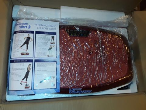 Lot 1049 VIBRAPOWER SLIM 3 WITH EQUIPMENT MAT - RED