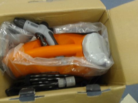 Lot 1431 SEALEY PW1712 RECHARGEABLE PRESSURE WASHER, 12V, 17L CAPACITY, GREY/ORANGE