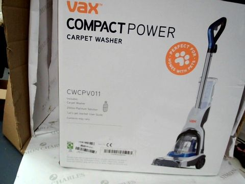 Lot 9206 VAX COMPACT POWER CARPET CLEANER