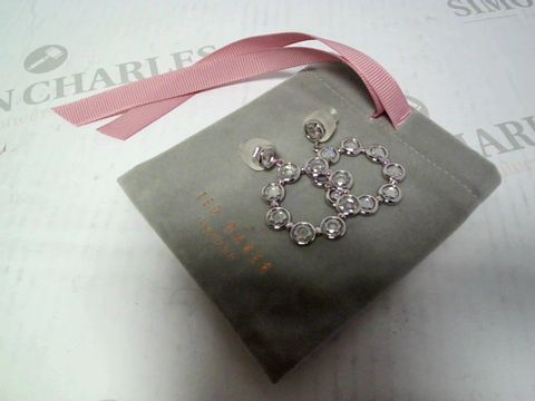 Lot 406 TED BAKER SARLA: STARLIGHT DROP EARRINGS - SILVER RRP £60.00