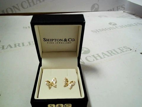 Lot 8198 DESIGNER GOLD TONE BUTTERFLY DESIGN EARRINGS