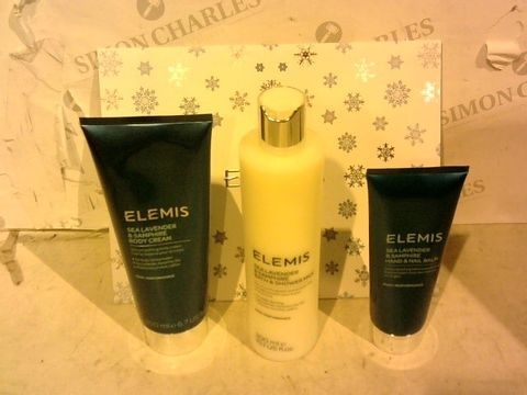Lot 1341 EXCELLENT CONDITION ELEMIS SEA LAVENDER & SAMPHIRE BODY CARE TRIO