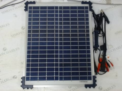 Lot 181 OPTIMATE SOLAR 20W 1.67A 12V AUTOMATIC BATTERY CHARGER OPTIMISER MAINTAINER WITH SOLAR PANEL