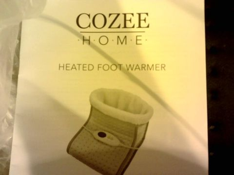 Lot 12059 COZEE HOME HEATED FOOT WARMER - NAVY