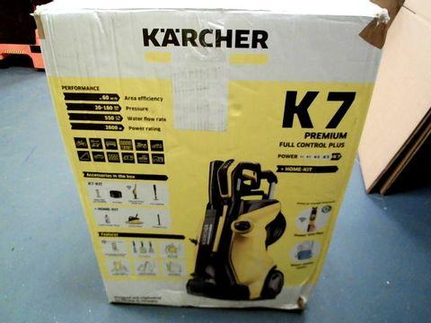 Lot 224 KARCHER K7 PREMIUM FULL CONTROL PLUS PRESSURE WASHER